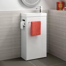 Bathroom Vanity Brooklyn Brooklyn All In One Gloss White Vanity Unit Floor Standing