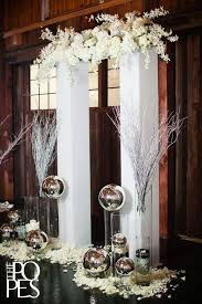 indoor wedding arches. modern indoor arch with white flowers and metal spheres wedding arches e