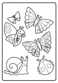 Small Picture Spring Theme Coloring Pages for Kids Preschool and Kindergarten