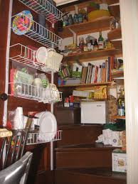 Small Kitchen Organization Kitchen Pantry Shelving Units White Painted Plywood L Shaped