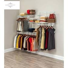 closetmaid closet closet organizer kit white steel wire adjule shelves 5 ft to 8 ft closetmaid closetmaid closet