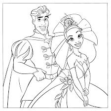 Kleurplaten Paradijs Kleurplaat Prins Naveen En Prinses Tiana