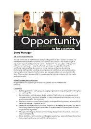 Starbucks Barista Job Description For Resume Starbucks Manager Job Description 55