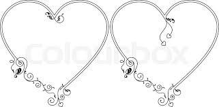 frame border design. Love, Heart Frame Border Design Vector Art,