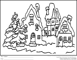 Village Scene Coloring Pages Download And Print For Free