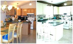 painted oak cabinets before and after painted wooden kitchen cabinets white oak kitchen cabinets painted white