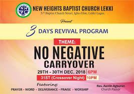 Church Revival Images 3 Days Revival Programme New Heights Baptist Church