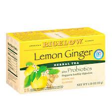 bigelow herb tea plus probiotics lemon ginger0 08 oz x 18 pack