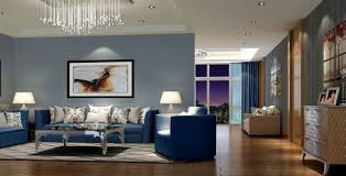Wall Painting Designs For Living Room Modern Living Room With Blue Sofa Home Decor Pinterest Blue