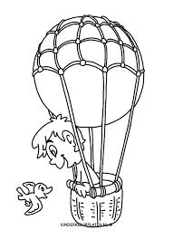 Kleurplaat Luchtballon Algemeen