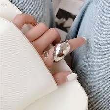 AOMU 1PC <b>2020 New Fashion</b> Geometric <b>Exaggerated</b> Ring Big ...