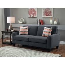 73 inch sofa. Delighful Inch Serta RTA Vivienne Collection Alsina Charcoal 73inch Sofa Inside 73 Inch C