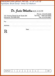 doctor prescription pad prescription pad template sop example