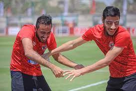 مرح وحماس بين أكرم توفيق وكهربا فى تدريبات الأهلى استعداد للمقاصة - اليوم  السابع