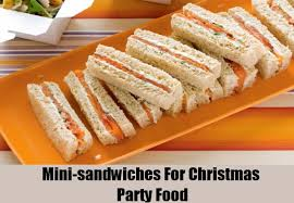 Finger Food Ideas For Christmas Parties. Mini-sandwiches Are Everyone's  Favorite Party Food
