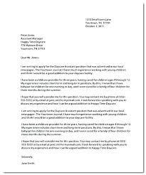 Child Care Cover Letter Daycare Teacher Cover Letter Teacher Resume