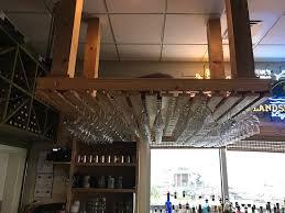 steve s marina restaurant nice homemade wine glass rack