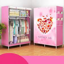 170x105x45cm portable clothes closet canvas wardrobe storage organizer steel frame s color 01