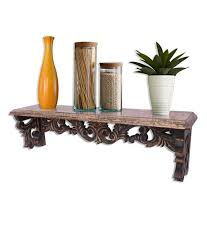 Mango Floating Shelves Amazing Home Sparkle Brown Mango Wood Carving Floating Shelf Wall Shelf