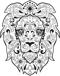 Day Of The Dead Skull Coloring Pages Day Of The Dead Coloring Sheets