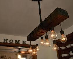 rustic wood lighting and wood chandelier
