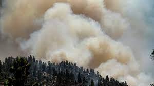 Tamarack Fire south of Lake Tahoe ...
