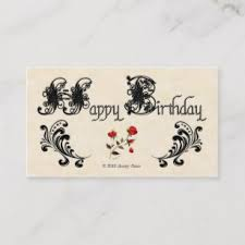 Happy Birthday Business Card Happy Birthday Cards Business Cards Zazzle