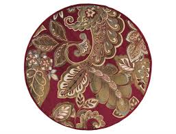surya riley 8 round red area rug