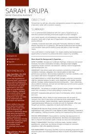 Modern Executive Assistant Resume Senior Executive Assistant Office Of The Ceo Resume Example