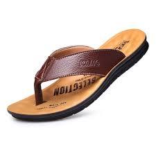 2019 sandals for men sandals pu leather men summer shoes beach outdoor sandals light men s flip flops comfortable mans footwear