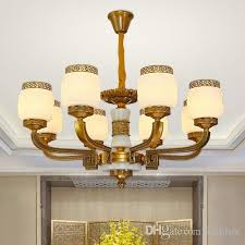new modern chinese style led chandelier lights lanterns zinc alloy marble decorative led chandeliers lamps pendant light for living room french country