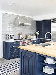 Lovable Blue Painted Kitchen Cabinets Blue Painted Kitchen Cabinets
