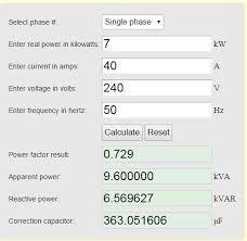 Power Factor Correction Calculation Chart Power Factor Correction On A Tesla Coil