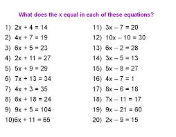 algebra solving equations worksheets