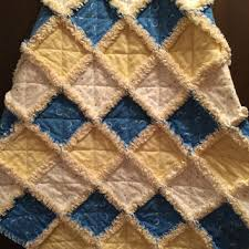 Yellow Baby Rag Quilt - Flannel Baby from AllAboutTheDetail on & Yellow Baby Rag Quilt - Flannel Baby Quilt - Blue Baby Boy Quilt Adamdwight.com