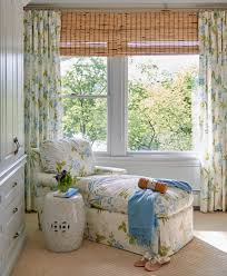 traditional blue bedroom designs. New York Green And Blue Bedroom Traditional With Floral Chaise Outside Mount Roman Shades White Side Table Designs .