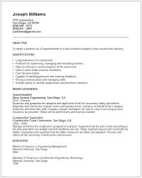 Superintendent resume example