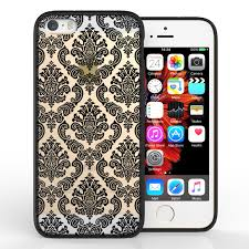 damask office accessories. Yousave Accessories IPhone 5 And SE TPU Hard Case - Damask Black Office