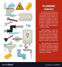 Service Advertisement Plumbing Service Advertisement Banner With Vector Image