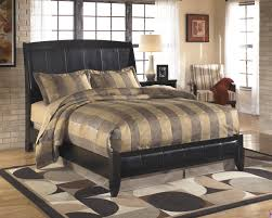 Ashley B208 Harmony Faux Leather Sleigh Bed B208-74 by Ashley color Brown