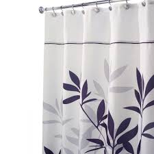 interdesign leaves stall size shower curtain in black and gray