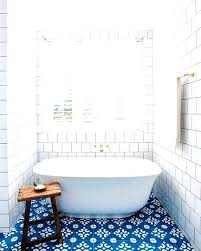 adorable blue and white floor tiles make a statement in this bathroom tile living room bold kitchen floor tiles top view bathroom amazing dark blue