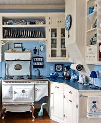 Modern Blue Country Kitchens And White Cottage Kitchen Via House Intended Decorating