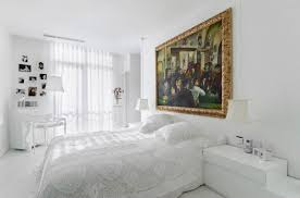 Decorations:Breathtaking White Furniture Bedroom Decorating Design Ideas  With Solid Hardwood Flooring And Navy Blue