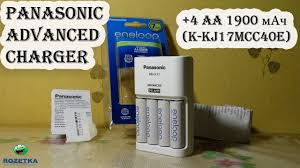 Распаковка <b>Panasonic Advanced Charger</b> + 4 AA 1900 мАч из ...