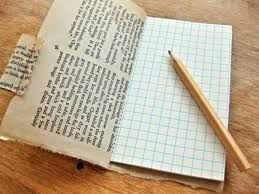 this fun rustic journal uses old book pages and gridded paper get the how to from design sponge