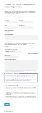 Gdpr Data Request Form Gdpr For Web Developers