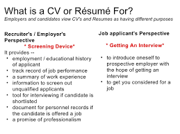 What is a CV or Rsum ...
