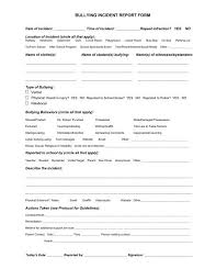 Bullying Incident Report Form