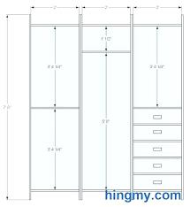 standard height for closet rod and shelf closet shelf dimensions size of closet for bedroom standard